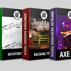 Andy Wood backing track transcript preset bundle product image